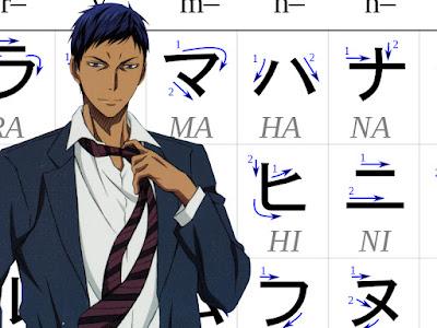 Aomine Katakana