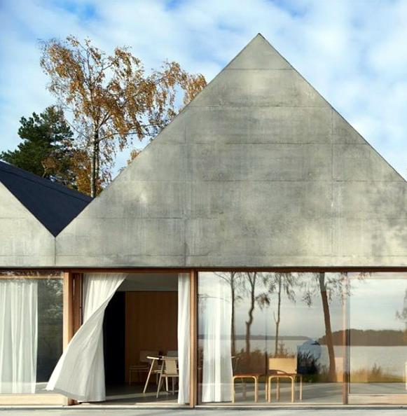 rumah minimalis atap limas piramida beton