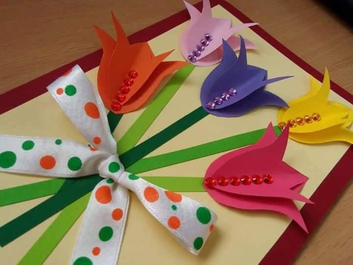 Crea hermosas tarjetas con flores de papel - Manualidades para hacer tarjetas ...