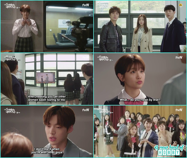 hyun min tell her feelings to ha won at graduation day   - Cinderella and Four Knights - Episode 6 Review -