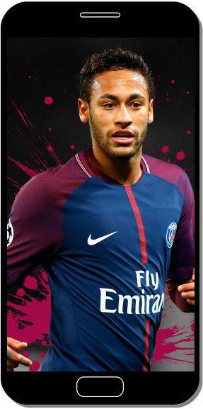 Neymar avec le Maillot du PSG - Fond d'Écran en QHD pour Mobile