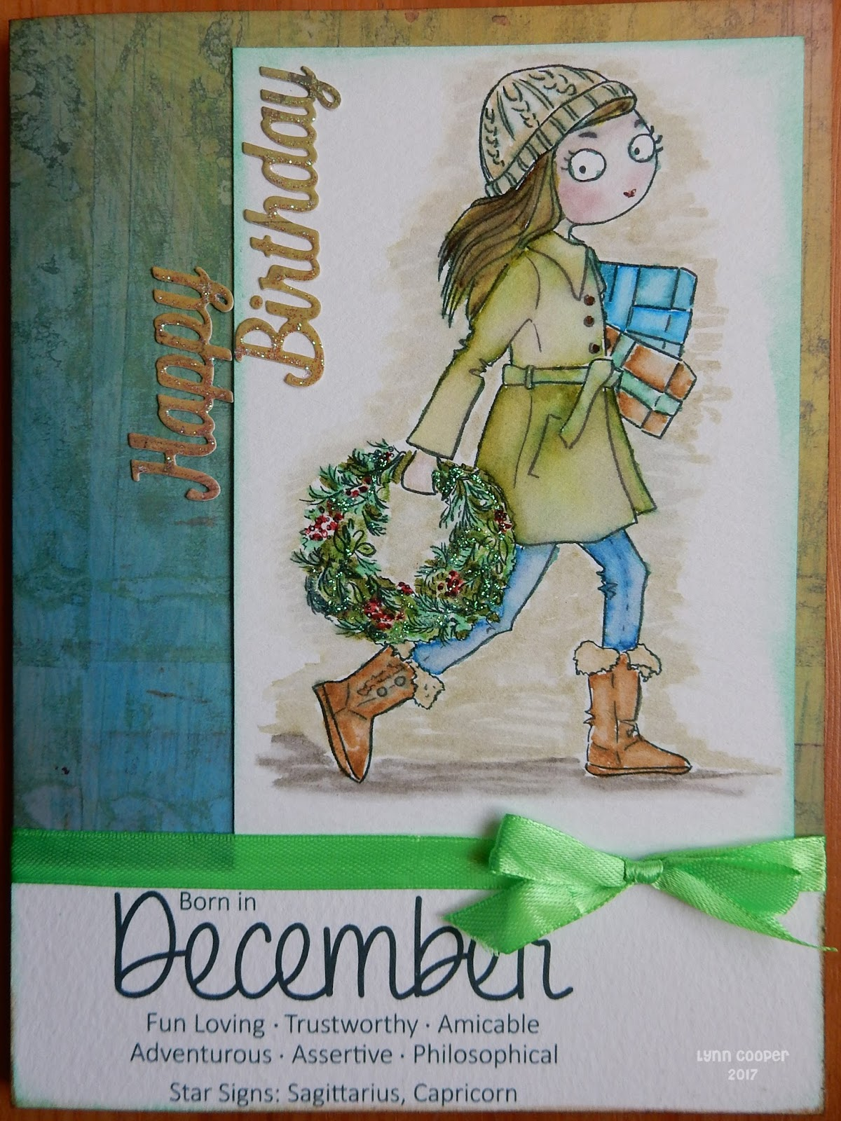 A moment in time december 2017 today is heathers birthday and i made her a card using the new thoroughly modern misses digi stamp for december from the collection by lili of the valley altavistaventures Image collections
