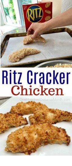 Easy Ritz Cracker Chicken