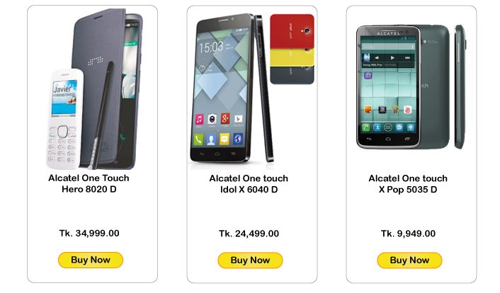 Best Alcatel Smartphone price list