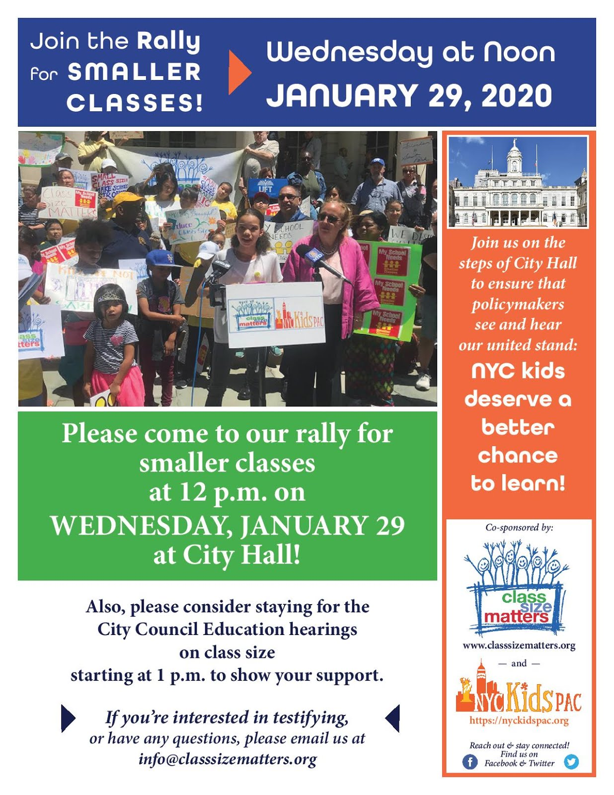 Join the Rally for Smaller Classes!
