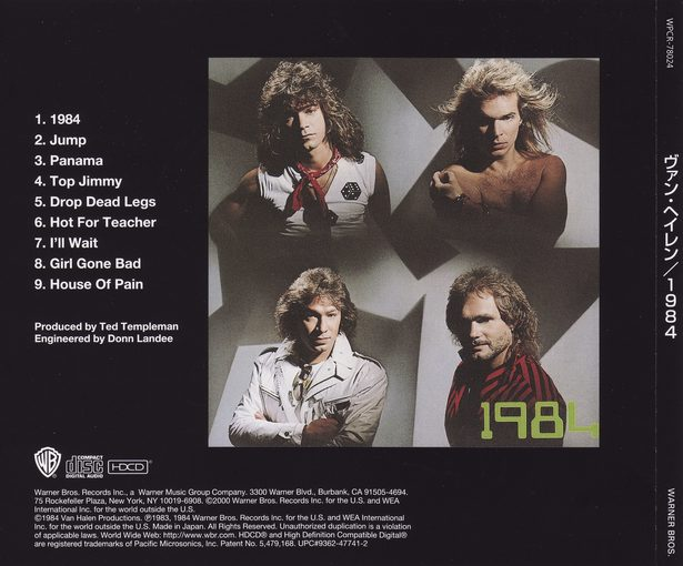 VAN HALEN - 1984 [Japan edition remastered - Forever Young series] Out Of Print - back