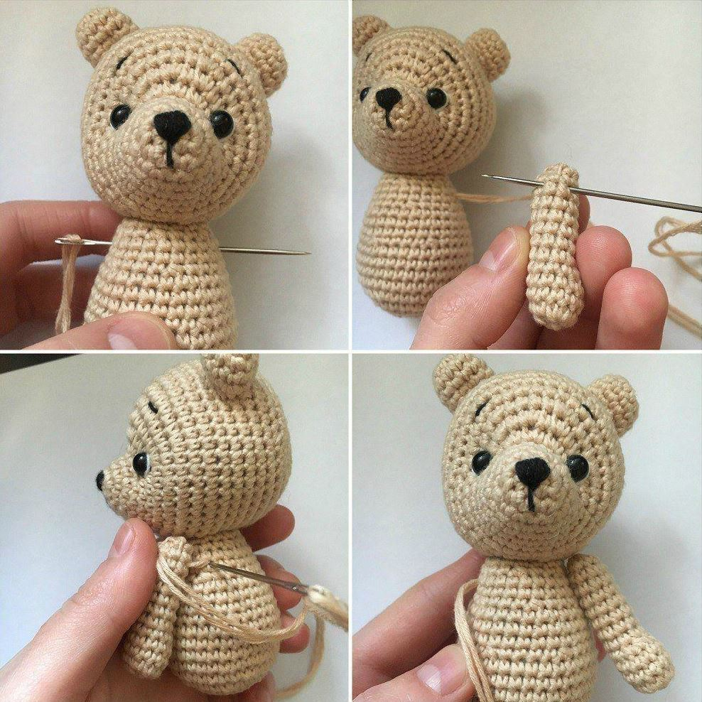 Crochet bear amigurumi tutorial