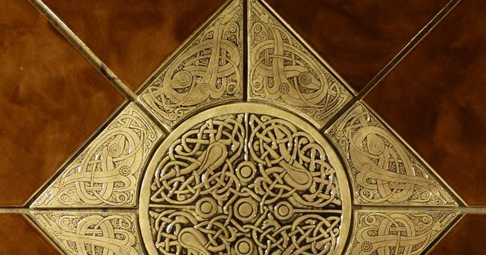 Decorative Handmade Ceramic Tile Decorative Relief Carved