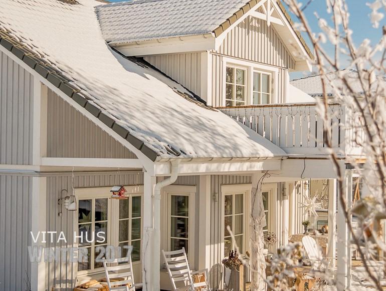 Schwedenhaus innenausstattung  Schwedenhaus im Schnee - * VitaHus *
