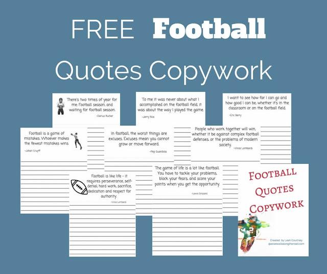 Free football copywork
