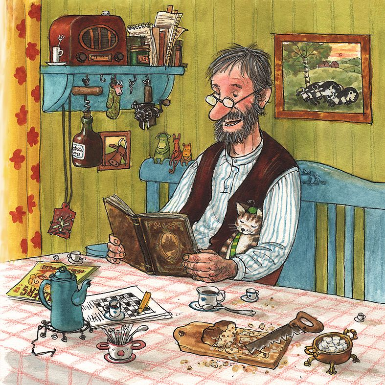 good books for young souls have you met farmer pettson and his cat findus. Black Bedroom Furniture Sets. Home Design Ideas