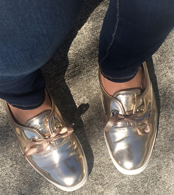 keds rose gold sneakers