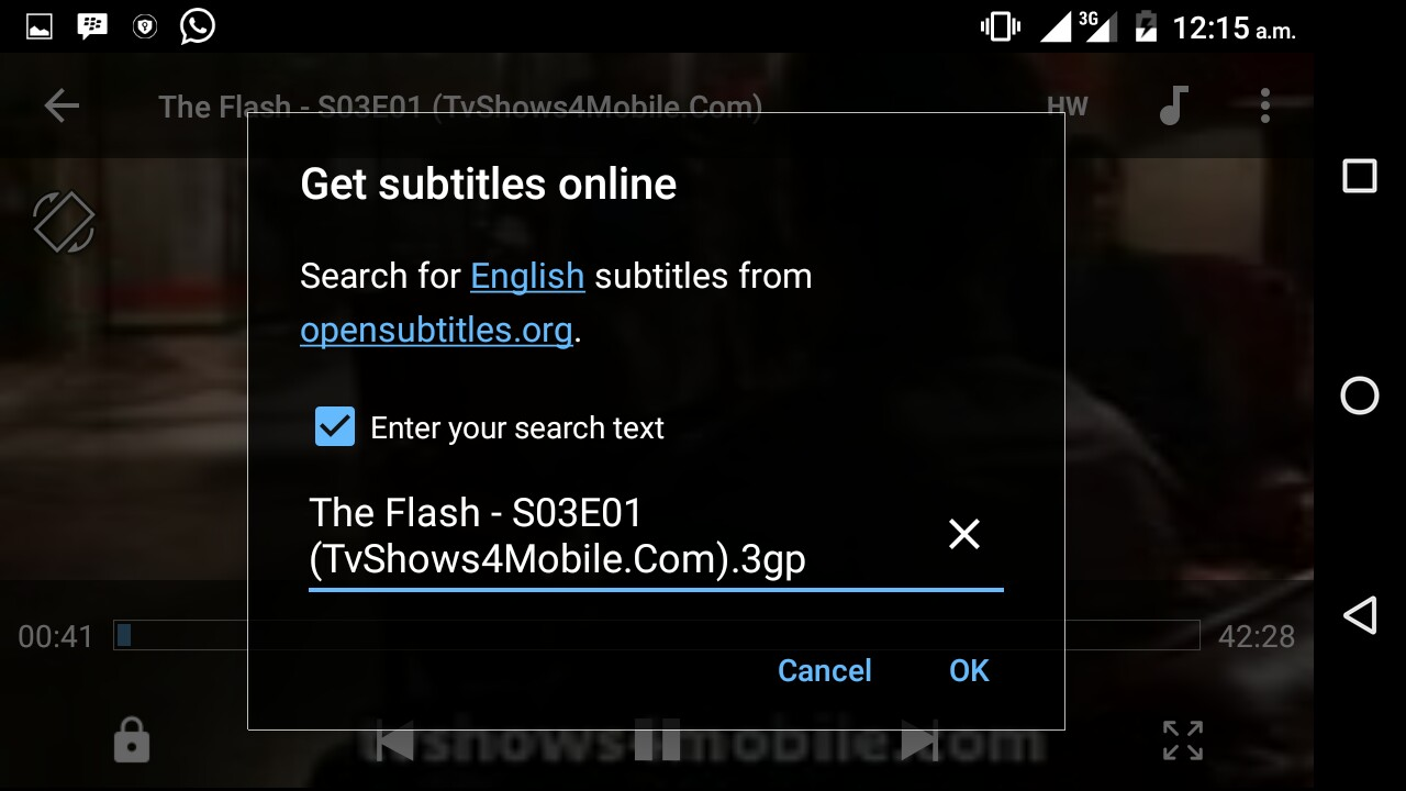 How to add subtitles to a movie on android laugh tablet world you can switch on your data connection for it to search the subtitle for that video online and you should choose any best subtitle for your video ccuart Image collections
