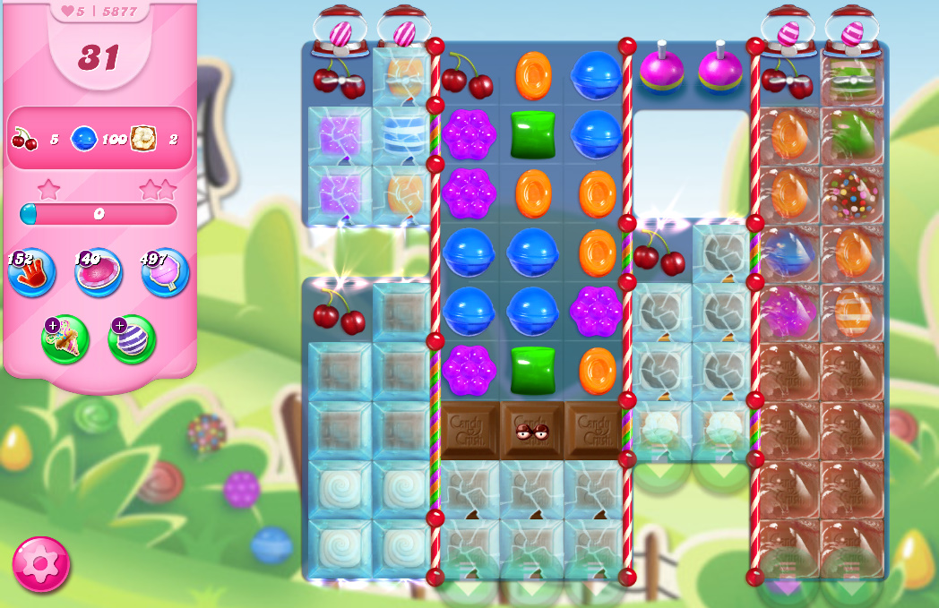 Candy Crush Saga level 5877