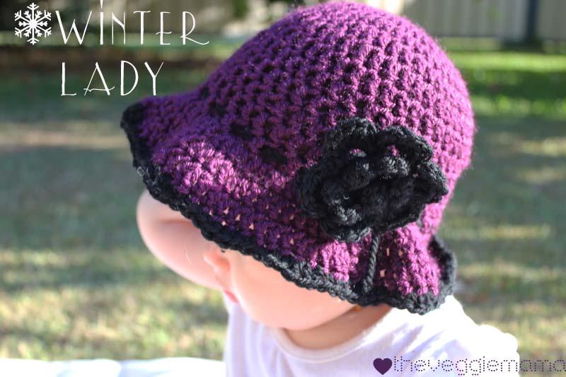 free crochet pattern: winter baby girl hat