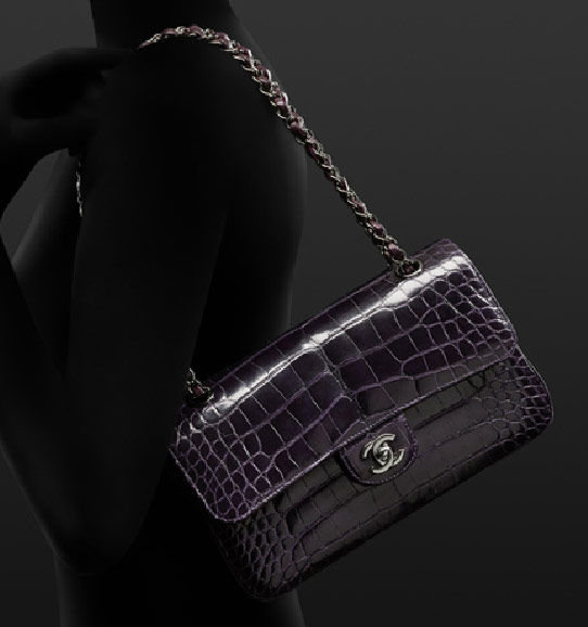 152272e5ab5e Gorgeous purple croc Chanel bag from Pre-Fall 2011 (via Purseblog)
