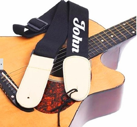 Personalized Guitar strap with name embroidery in Singapore