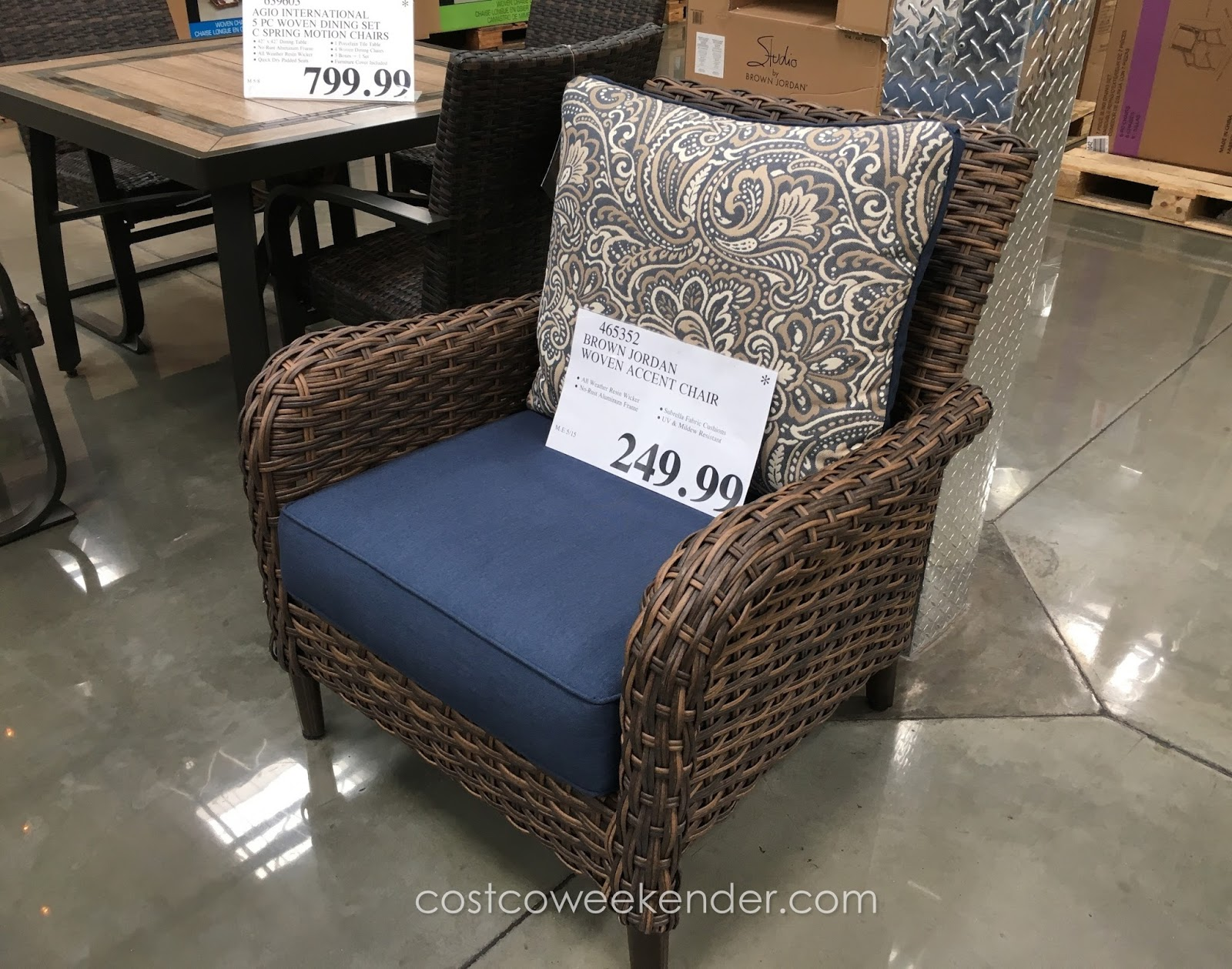 Chairs Costco Studio By Brown Jordan Woven Accent Chair Costco Weekender