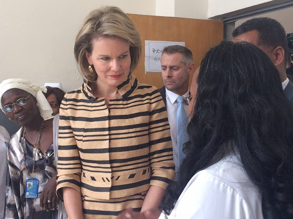 Queen Mathilde of Belgium has arrived in Addis Ababa, Ethiopia to visit projects supported by the United Nations Children's Fund (UNICEF)