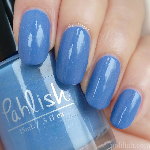 Pahlish 'Such Great Heights', two coats with top coat; swatch by polilish
