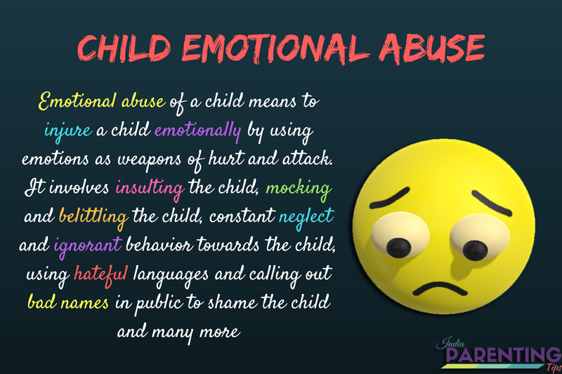emotional abuse of children examples