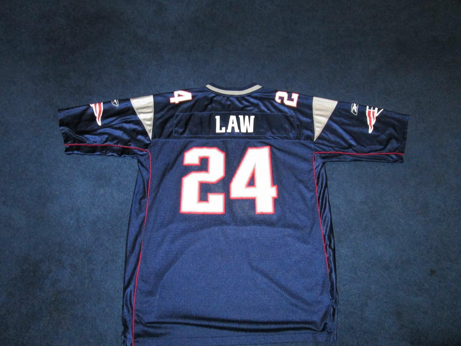 b93afe63e6c ... Vintage Reebok Ty Law 24 New England Patriots Jersey ...