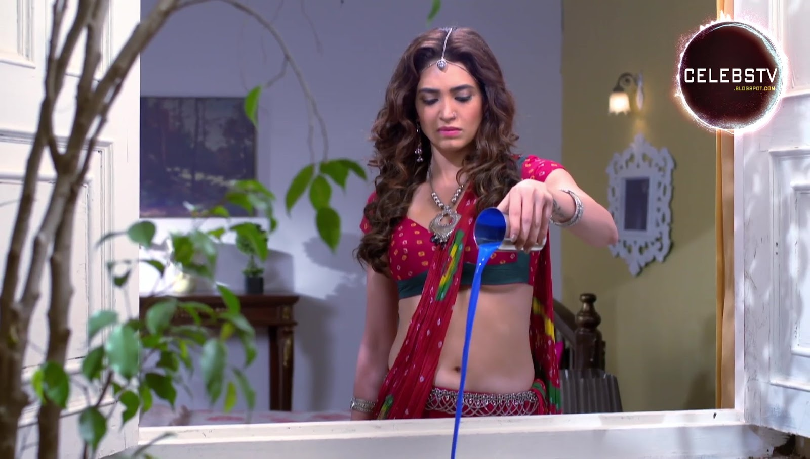 Tv Actress Karishma Tanna Hot Bare Navel Show - Sexy -5877