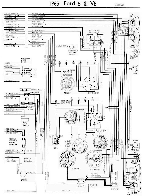 1965 Ford Galaxie Complete Electrical Wiring Diagram Part