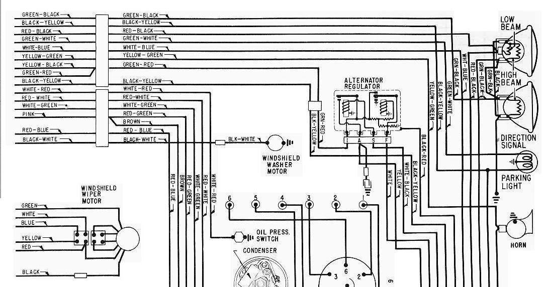 1965 mustang horn wiring diagram vw jetta mk4 radio ford galaxie complete electrical part 2 | all about diagrams