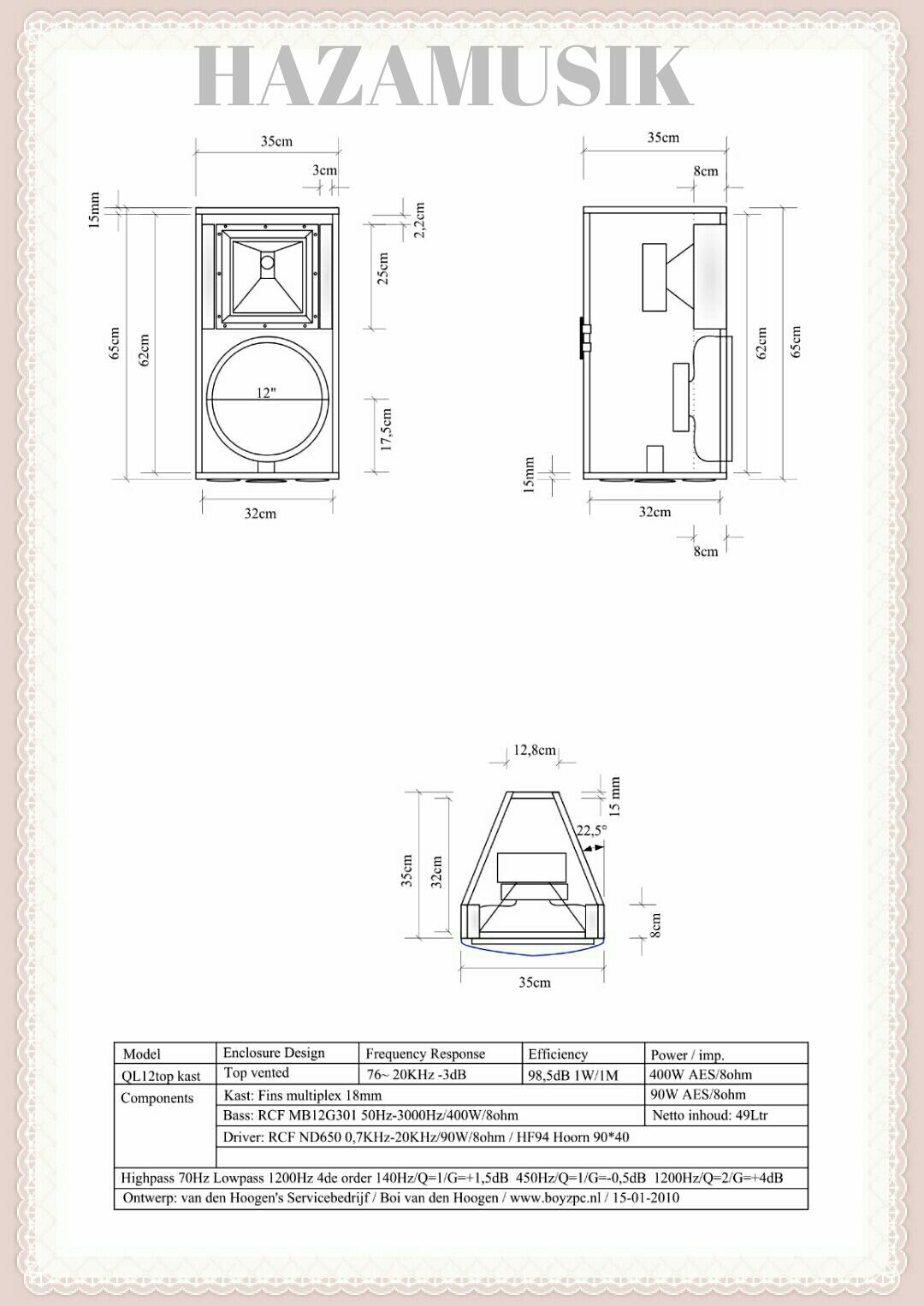 SKEMA BOX SPEAKER SUBWOOFER 18''X2 LAPANGAN SW7001 - HAZA MUSIK