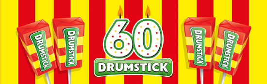 Swizzels Matlow Drumstick 60th Birthday banner