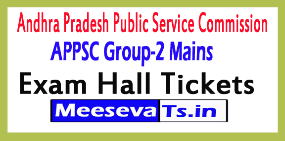 APPSC Group-2 Mains Exam Hall Tickets