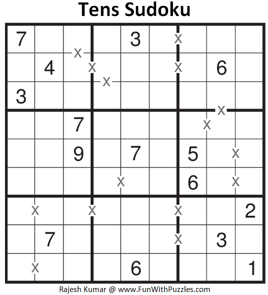 Tens Sudoku (Fun With Sudoku #189)