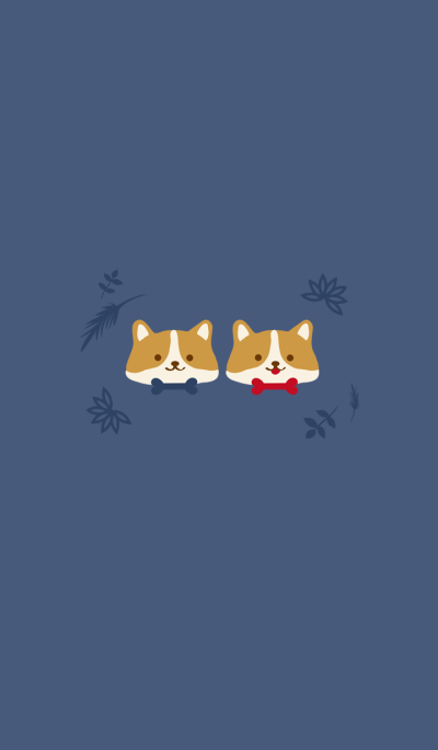 Corgi couple