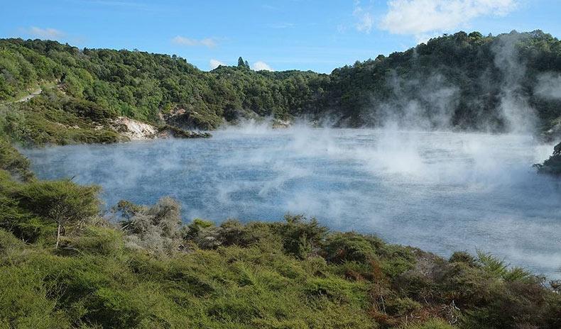El lago Frying Pan | Nueva Zelanda