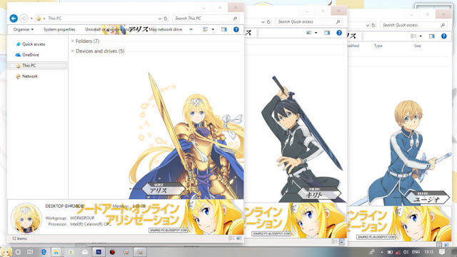 Windows 10 Ver. 1703 Theme Sword Art Online: Alicization by Enji Riz Lazuardi