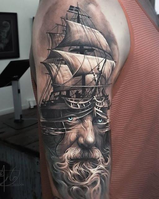 tatuajes en grises de escuela tradicional realista