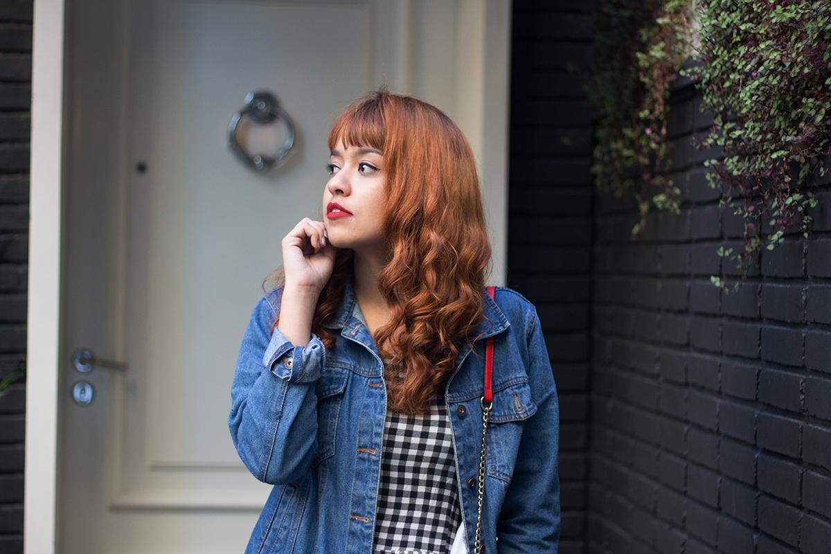 Vestido jeans xadrez