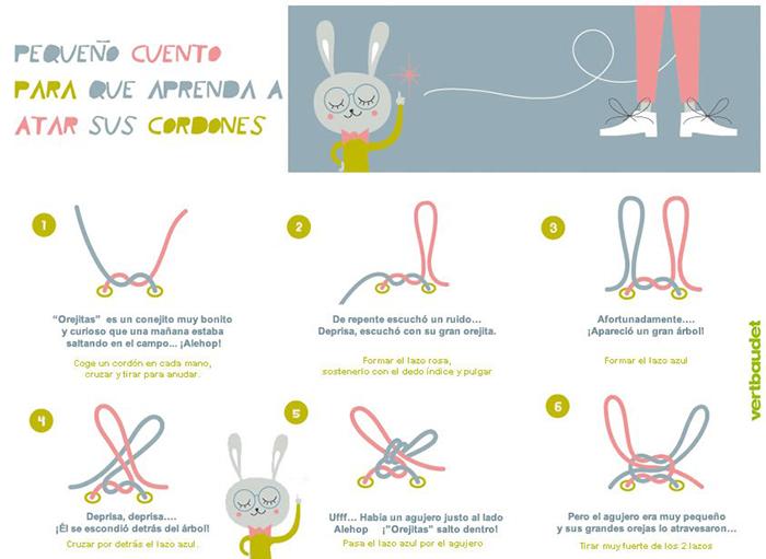 cuento para aprender a atarse los cordones
