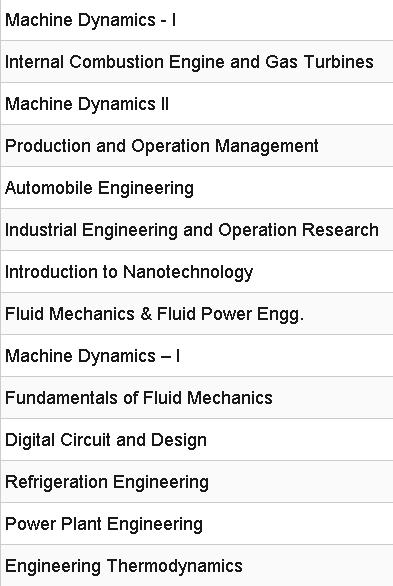 Mechanical Engineering Study Materials Lecture Notes PDF