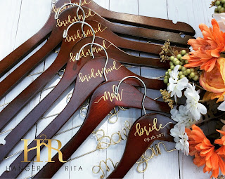 K'Mich Weddings - wedding planning - personalized hangers - gift ideas - HR hangers