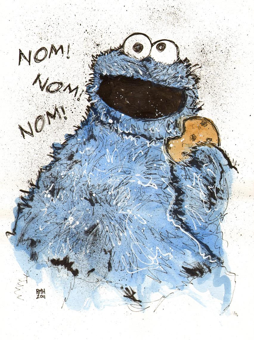 Drawing Cookie Monster