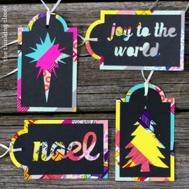 Colorful Washi Tape Gift Tags