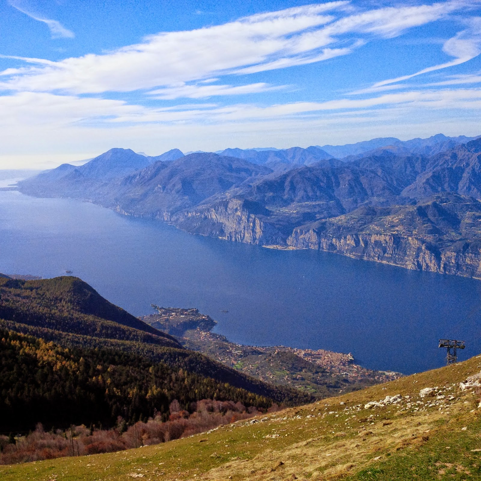 Lake Garda seen from Mount Baldo at 1760 m altitude