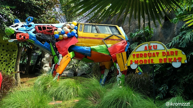 replika mobil eco green park batu