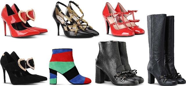 moda donna autunno-inverno 2016/17, scarpe boutique moschino