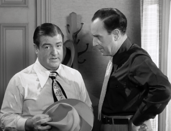who was the straight man in abbott and costello meet