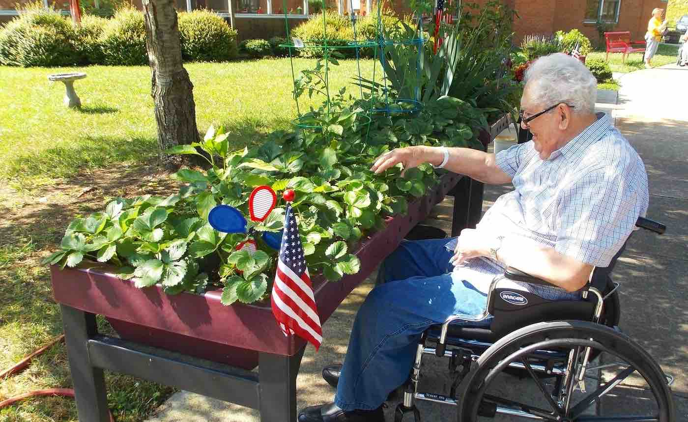 After Seeing His Brother Giving Up On Gardening, This Man Designed Tabletop Gardens For People In Wheelchairs