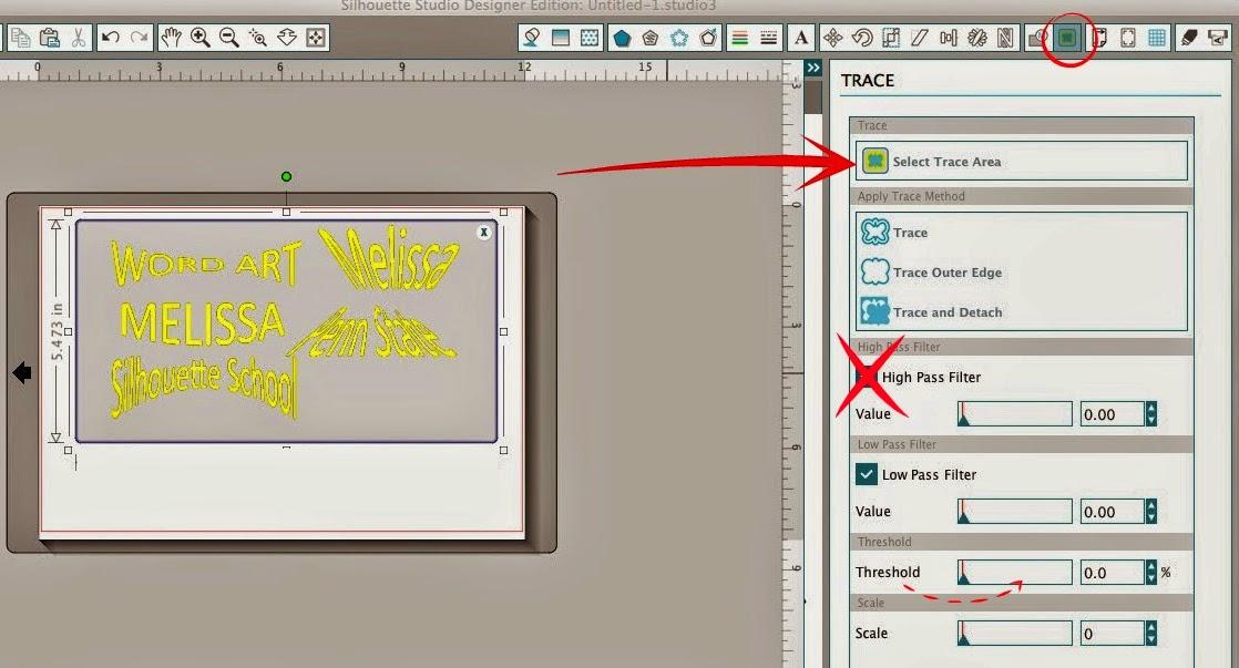 Word art, Silhouette Studio, Silhouette tutorial, trace