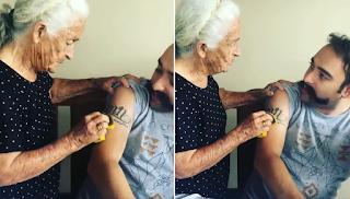 Μάνα προσπαθεί να καθαρίσει με σφουγγάρι το τατουάζ του γιου της επειδή λέει ότι είναι «του διαβόλου»